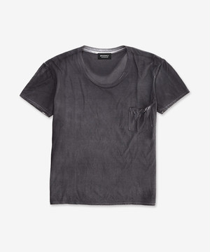 STAINING T-SHIRTS CHARCOAL BLACK