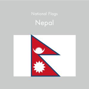 国旗ステッカー ネパール