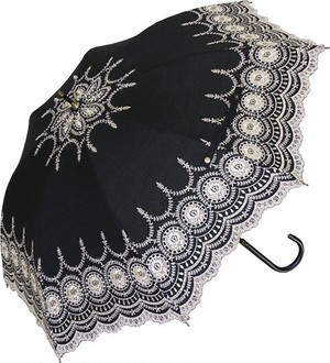 傘 日傘 レディース 手開き パラソルエンブロイダリーレース刺繍 サークル 47cm