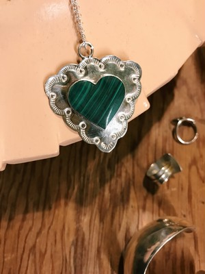 Vintage mexican 925 silver heart necklace ( ヴィンテージ メキシカン シルバー ハート ネックレス