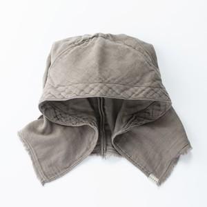 ▲受注生産▲ G-23 作業頭巾 ヒノキ染 源氏鼠