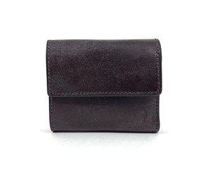 RE.ACT Bridle Leather Three Fold Compact Wallet Burgundy