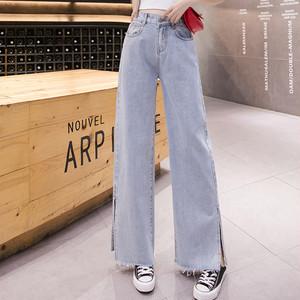 【bottoms】 ハイウエストファッション人気デニムパンツ27162754