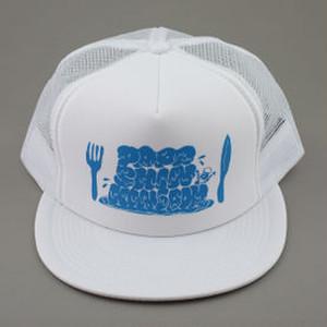 『パパシンキングダム』メッシュキャップ (白×ブルー)