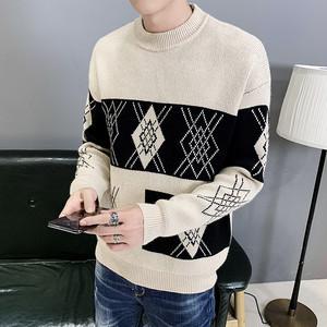 【トップス】高品質韓流キャンパスルーズ幾何模様セーター24660174
