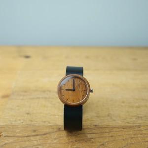 Teak wood - Organic leather - M