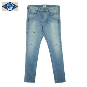 NS006007 STRETCH EDGRD SKINY / INDIGO-DAMAGE