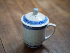 『たっぷりサイズのマグカップ/Blue&White』【景徳鎮蛍焼き/ホタル】