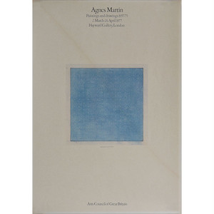 AGNES MARTIN / PAINTINGS AND DRAWINGS 1957-75 / 1977 HAYWARD GALLERY
