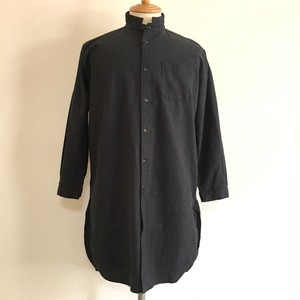Linen Blended Cotton Rome Shirt Coat Black