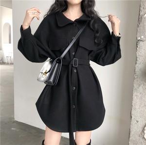 【アウター】秋冬ファッションCHIC簡約収束ラシャ着やせ見えコート