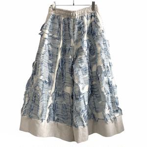 WIDE Pants (blue Jacquard)  (inbi 20ss sample)