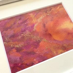 絵画(アクリル画) 水彩画紙、アクリル絵の具 「祝福」