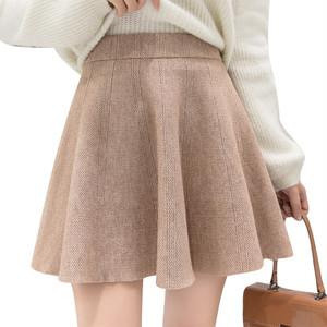 【ボトムス】ファッション新入ハイウエストAラインギャザースカート