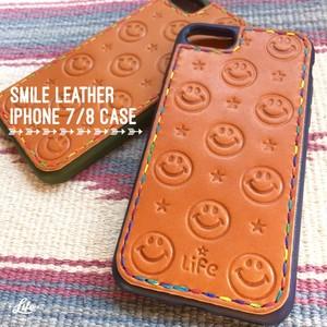 SMILE Leather iPhone Half CASE (7/8用)