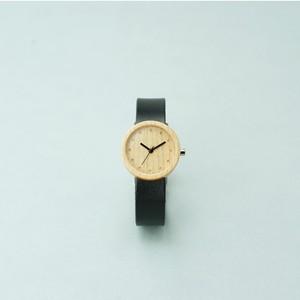 Maple wood - Organic leather Black - S