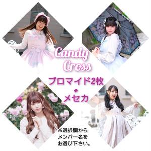 Candy Cross ランダムブロマイド2枚+メセカ