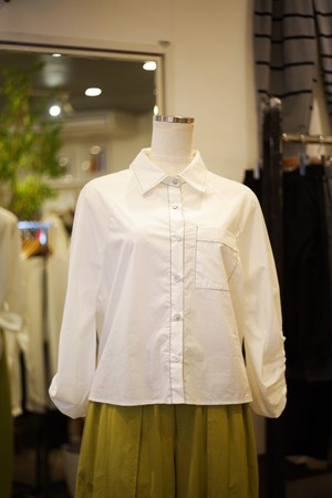 Ladies' / dolman sleeves SHIRT with back ribbon