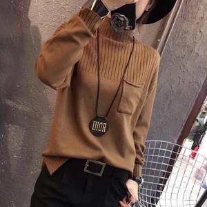 【tops】カジュアル合わせやすいハイネックお流行りセーター 23315675