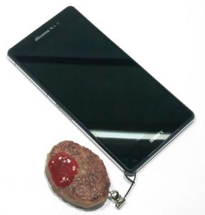 ハンバーグ 食品サンプル キーホルダー ストラップ マグネット