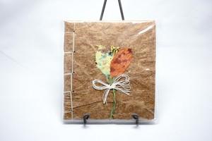 パイナップル紙のノート(茶色)
