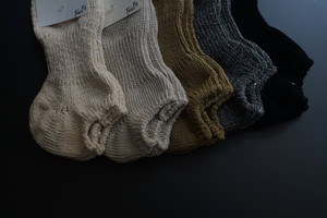 【再入荷】RoToTo / LOWGAUGE COTTON RIB SOCKS SHORT