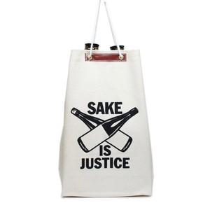 【5月再入荷】【通い袋】SAKE 袋 IS JUSTICE / 生成り