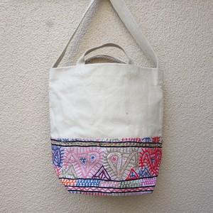 ビンテージ刺繍×キャンバス 2wayトート