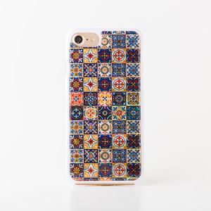 [天然貝ケース] iPhoneケース(マジョリカ・白カバー)<螺鈿アート>