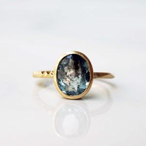Leopard Aquamarine Ring