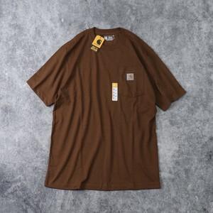 """新品 """" CARHARTT """" カーハート ポケット ロゴTシャツ (MOCHA) USA規格 新品"""
