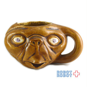 E.T. フェイス マグカップ 茶色