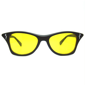 "Shady Spex ""MEOW"" sunglasses, Matte Black w/Yellow lenses"