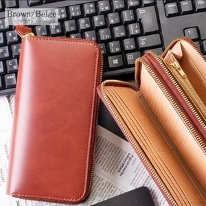 bonded leather zipper(wallet)