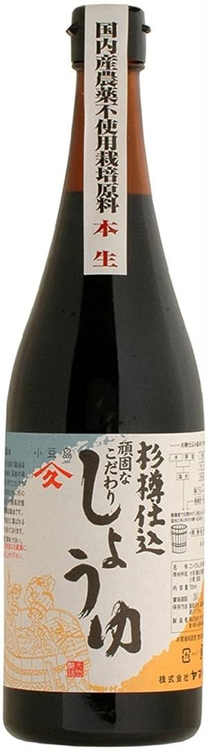 """ヤマヒサ 頑固""""本生""""濃口醤油 720ml"""