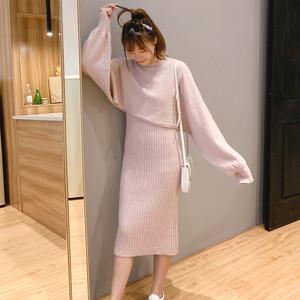 【セットアップ】主役級ファッション無地トップススカート2点セット23517903