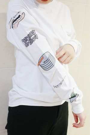 """TENUSIS """"HOT MEAL FANCLUB Long T-shirt""""[S]"""