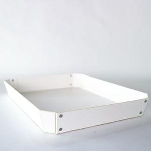 concrete craft 8_TRAY Lサイズ ホワイト(W27 × D35.5 × H4.5cm )パスコ トレー ステーショナリー 機能性 収納雑貨 スタッキング
