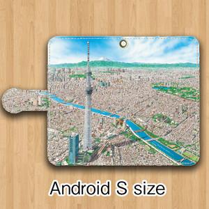 【受注生産】パノラマ「浅草」Android用 Sサイズ 手帳型ケース
