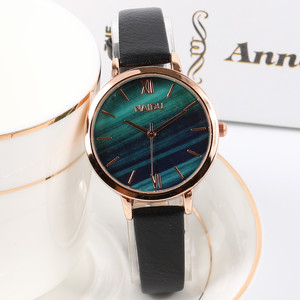 森ガール レトロ シンプル 合わせやすい レザーベルト レディース 腕時計 <ins-2059>