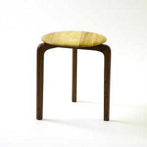 LISCIO スタックスツール(wood) (座面:オーク, 脚:ウォールナット)