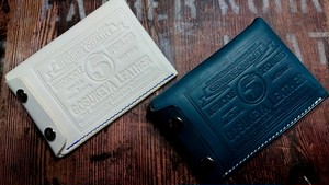 五助屋マルチケース  カード&名刺入れ ホワイトXコバルトブルー  オルテンシア