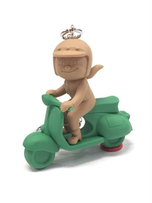 蜂バイク 緑×茶系