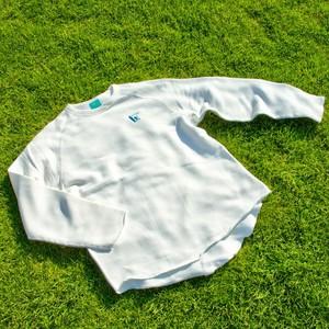 SUPサーファー刺繍モチーフ クルーネックトレーナー バニラホワイトM