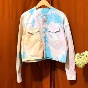 Remake Tie-dye Cropped Shirt   Color : Blue