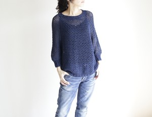 summer sweater(m) navy / サマーセーター(m) 紺