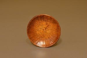 A-02025 「拭き漆栗丸皿4.5寸」    有岡 成員