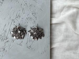 leaf chain volume  pierce/earrings