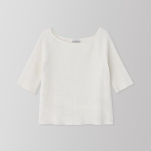THERMAL BOAT NECK LONG SLEEVE (white) TNH19100-10