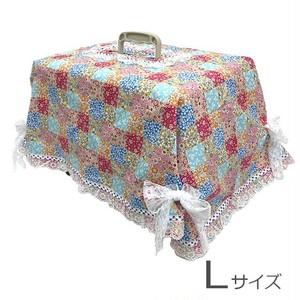 キャリーカバー(チェックの花柄 Lサイズ)【CK-010L】